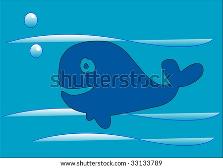 Whale - stock photo