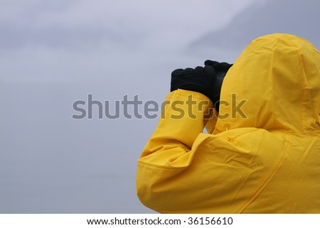 Whale watching off the coast of Alaska - stock photo