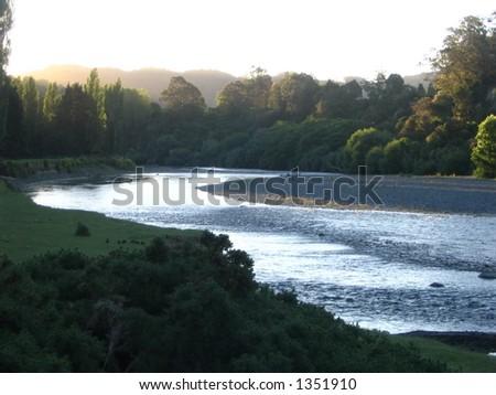 Whanganui River - stock photo