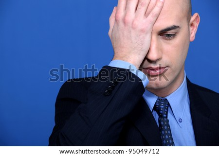 What a blunder! - stock photo