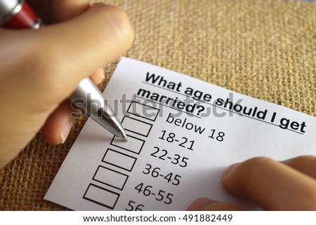 What age should I get married?