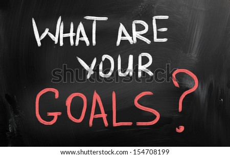 what are your goals? - stock photo