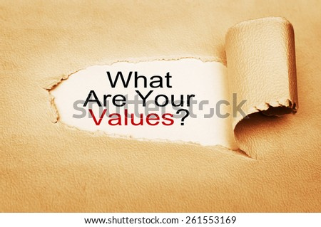 What Are Your Values? written behind torn paper - stock photo