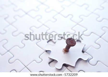 what does not fit 4 - stock photo