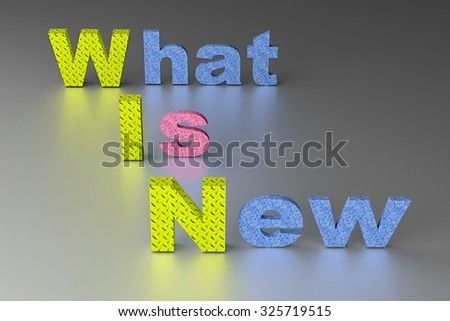 What Is New - WIN concept background. - stock photo
