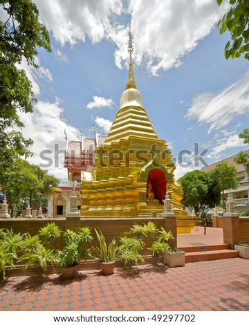 What Phan Ohn temple in Chiang Mai, Thailand - stock photo