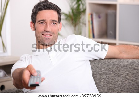 What's on? - stock photo
