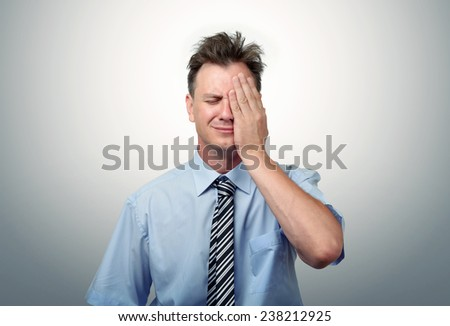 What to do? Fear businessman, facepalm concept crisis - stock photo