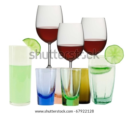 what would you like to drink- wine,liquor,cocktail or sparkling water? - stock photo