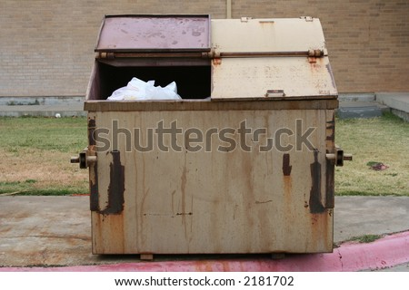 What you throw away - stock photo