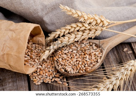 Wheat and cereals - stock photo