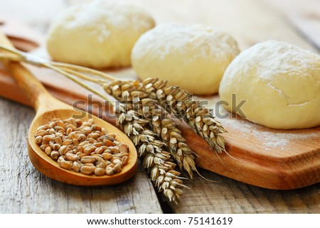 Wheat  and  dough - stock photo