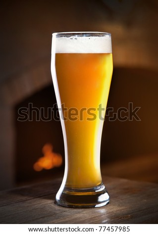 Wheat beer - stock photo