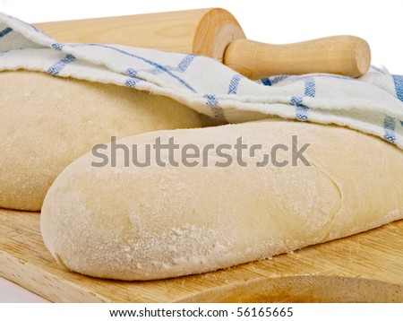 wheat bread dough - stock photo