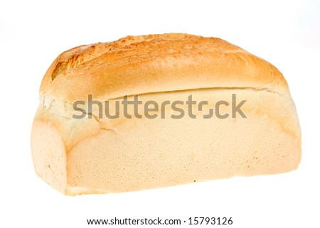 Wheat bread on a white background.