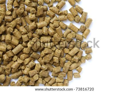 Wheat distiller pellets - stock photo