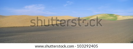 Wheat Fields, S.E. Washington - stock photo