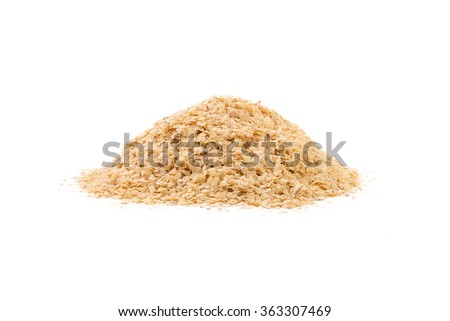 Wheat germ, the highly nutritious heart of the wheat kernel. isolated - stock photo