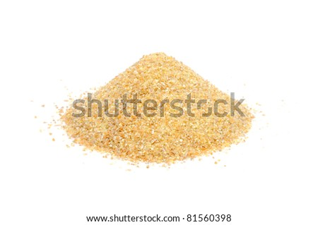 Wheat Groats (Bulgur) Isolated on White Background