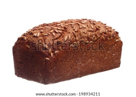 wheat traditional bread isolated white background food - stock photo