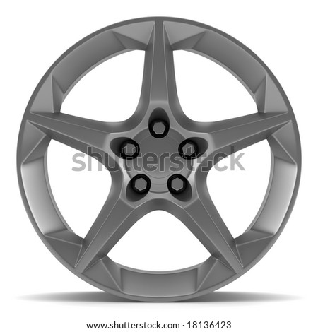 wheel disk isolated on white