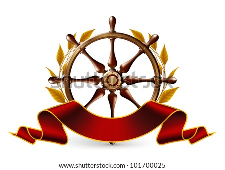 Wheel Emblem, bitmap copy - stock photo