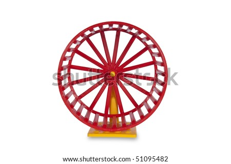 Wheel for rodents isolated on white with clipping path - stock photo