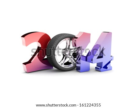 The new year new year s eve holiday 3d illustration stock photo
