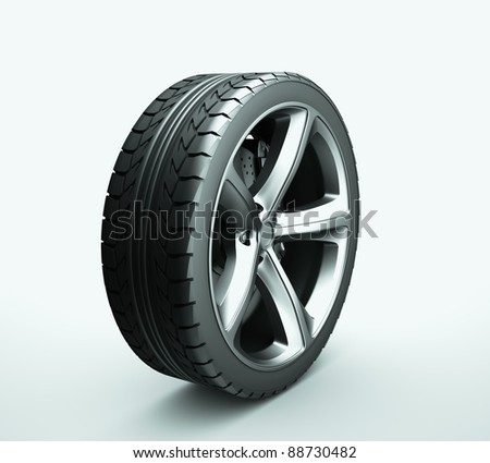 Wheel isolated on white background