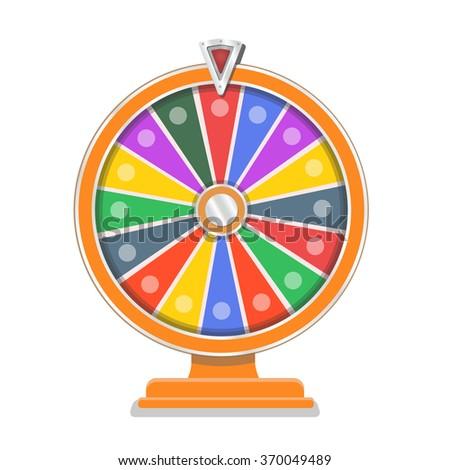 Wheel of fortune flat gamble design template - stock photo