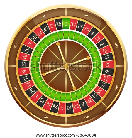 Wheel of fortune isolated on a white background - stock photo