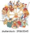 Wheel of history. JPEG version. - stock vector