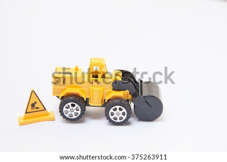 Wheel Road toys yellow background white