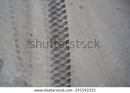 Wheel tracks on the ground