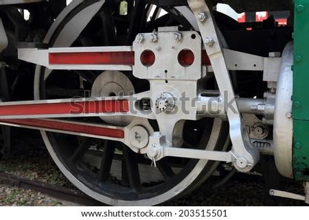 wheel train - stock photo