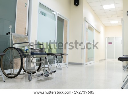 wheelchair for patient - stock photo