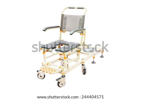 wheelchair for showering  - stock photo