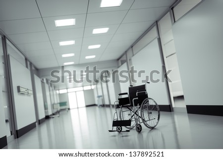 Wheelchair in a hospital - high quality render - stock photo