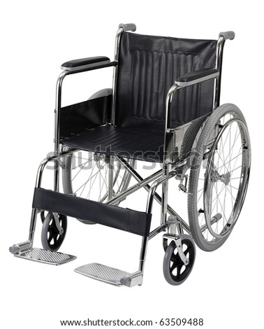 wheelchair isolated on white background. clipping path included - stock photo