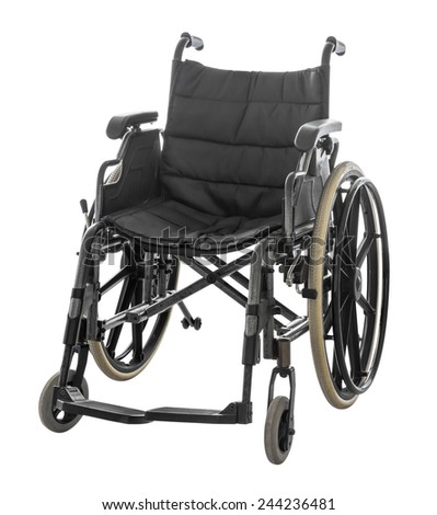 Wheelchair isolated on white background with clipping path - stock photo
