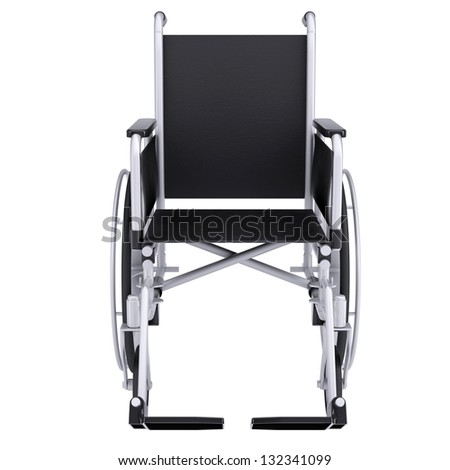 Wheelchair. Isolated render on a white background - stock photo