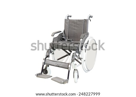 Wheelchair isolated under the white background - stock photo