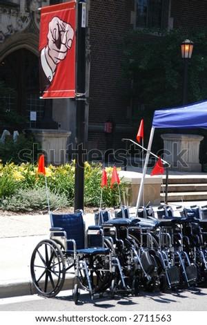 Wheelchair Rental - stock photo