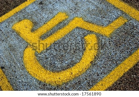 Wheelchair sign - stock photo