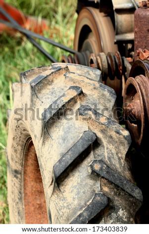 Wheeled tractors - stock photo