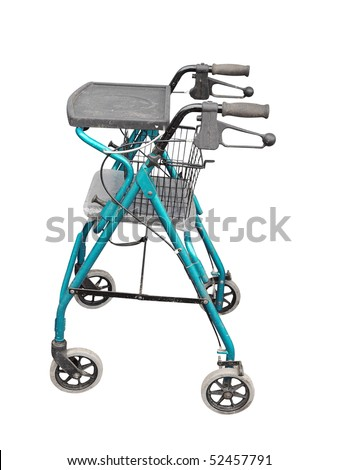 wheeled zimmer frame isolated with clipping path - Zimmer Frame
