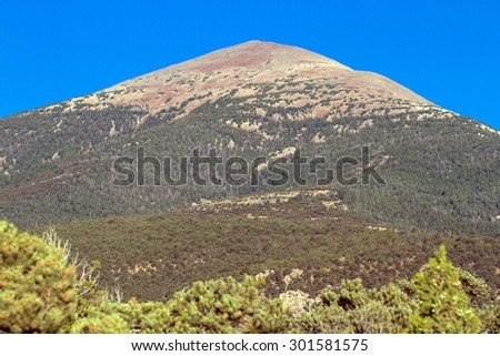 Wheeler Peak, the highest in Nevada, located in Great Basin National Park - stock photo