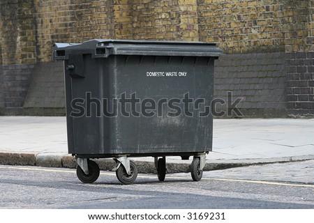 Wheelie bin - stock photo