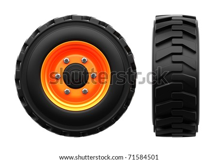 wheels isolated on white background