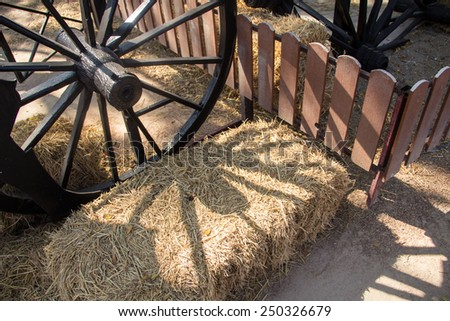 wheels of a cart - stock photo